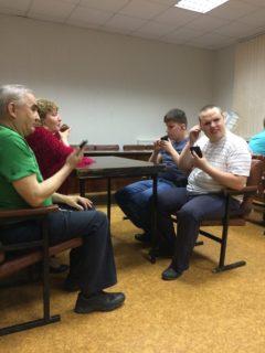 """Конкурс по невизуальному использованию мобильной техники """"Словом и жестом"""". Команда """"Самсунговские лисы""""."""
