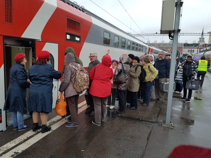"""Садимся в поезд """"Москва - Кисловодск""""."""