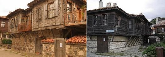 Типичные дома Несебра.